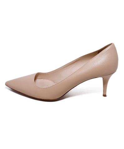 Prada Neutral Cream Leather Heels 1