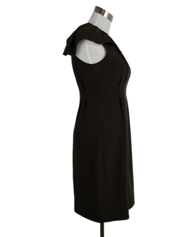 Prada Olive Polyester Dress 1