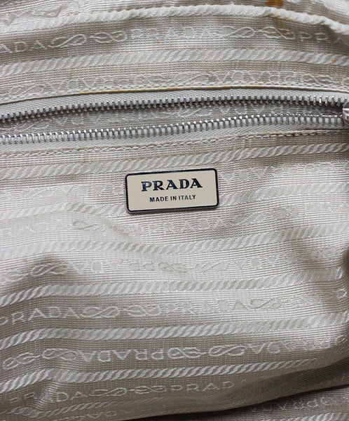 "Shoulder Bag Prada Blue Pale Leather ""as is"" W/Dust Cover Handbag 6"