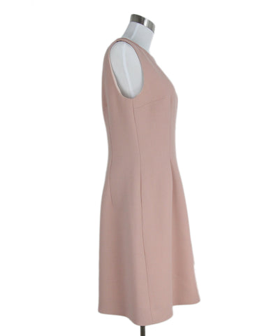 Prada peach wool silk dress 1