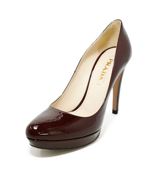 Prada Purple Plum Patent Leather Heels 1