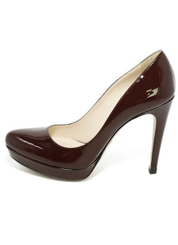 Prada Purple Plum Patent Leather Heels 2