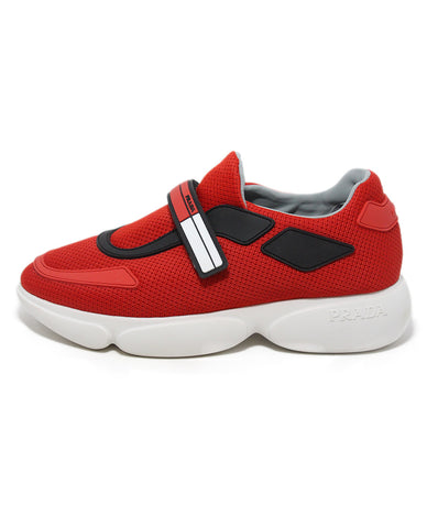 Prada red black nylon sneakers 1