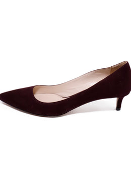 Prada Red Burgundy Suede Heels 2