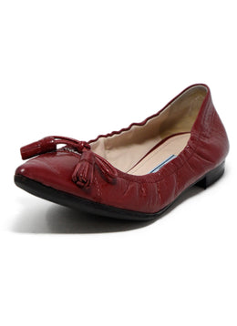 Prada Red Leather Flats 1