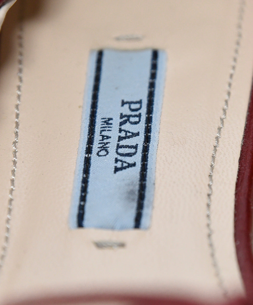 Prada Red Leather Flats 7