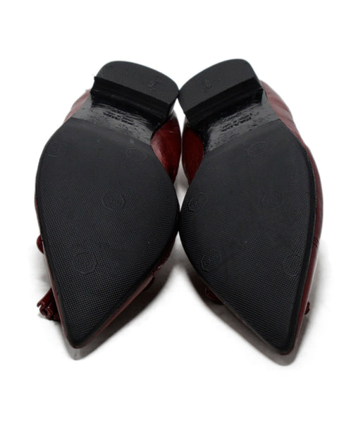 Prada Red Leather Flats 5