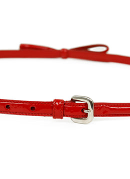 Prada Red Patent Leather Belt 2