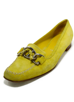 Prada Yellow Suede Loafers 1