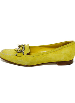 Prada Yellow Suede Loafers 2
