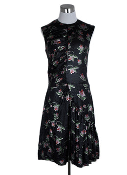 Preen Black Red Floral Lurex Evening Dress 1