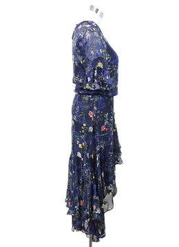 Preen Blue Navy Floral Dress with slip size 2