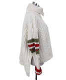 Preen Ivory Wool Red Olive Stripes Sweater 1