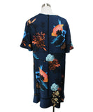 Proenza Schouler Blue Black Peach Print Viscose Dress 3