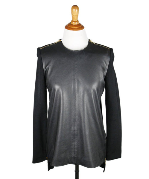 Proenza Schouler Black Leather Top Sz 4