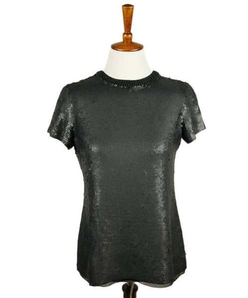 Proenza Schouler Black Sequins Top 1