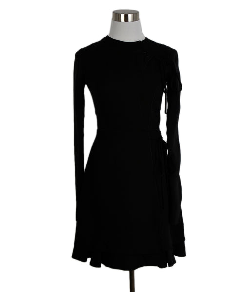 Proenza Schouler Black Silk Longsleeve Dress 1
