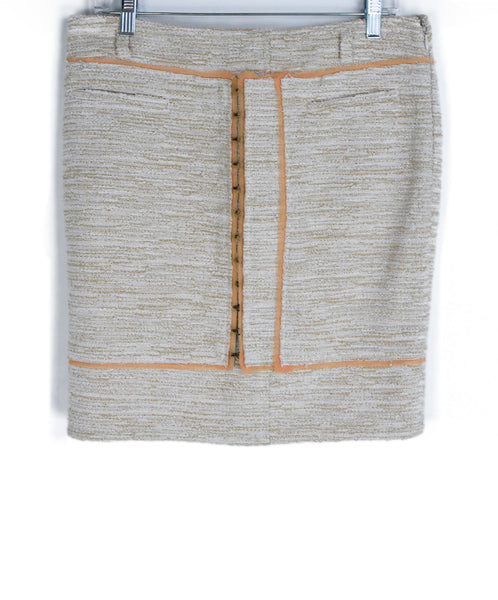 Proenza Schouler Neutral Beige Peach Cotton Skirt 1