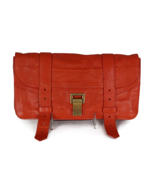 Proenza Schouler Orange Leather Clutch 1