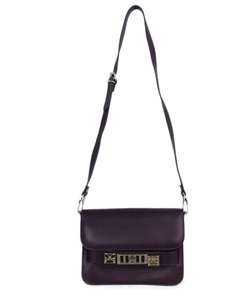 Proenza Schouler purple leather PS11 Mini Classic bag 1