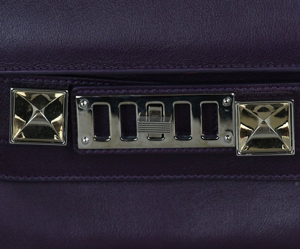Proenza Schouler purple leather PS11 Mini Classic bag 9
