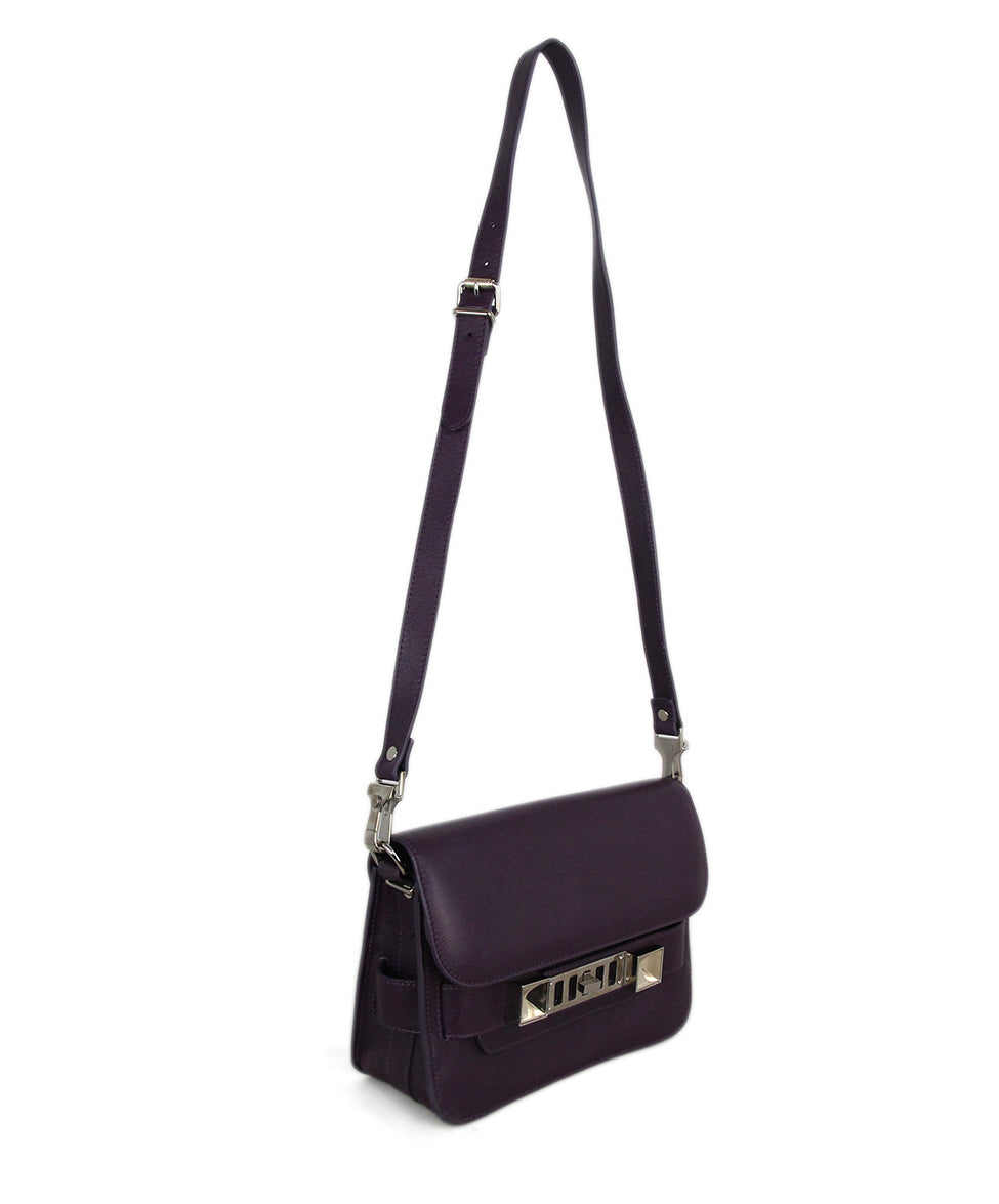 Proenza Schouler purple leather PS11 Mini Classic bag 2