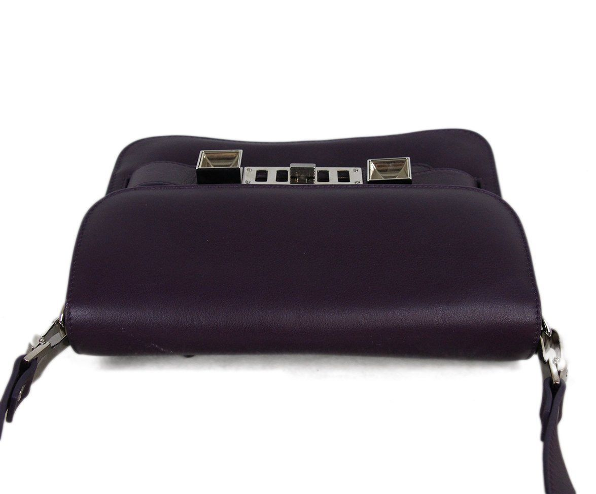 Proenza Schouler purple leather PS11 Mini Classic bag 5