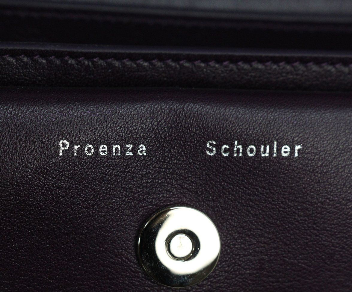 Proenza Schouler purple leather PS11 Mini Classic bag 8