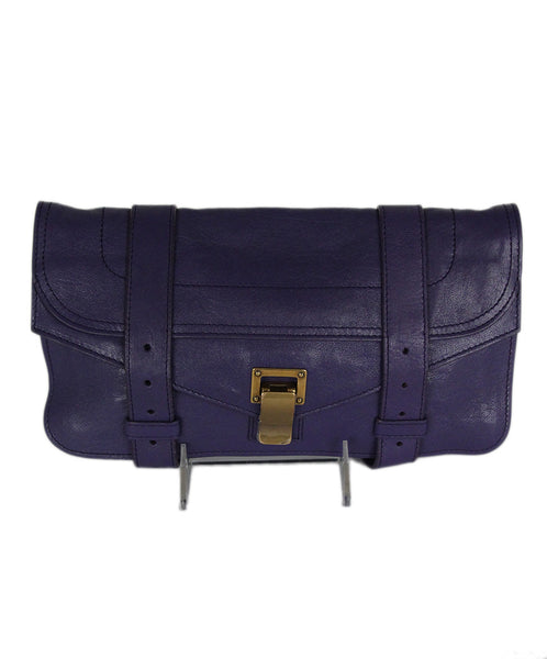 Proenza Schouler Purple Leather Clutch 1
