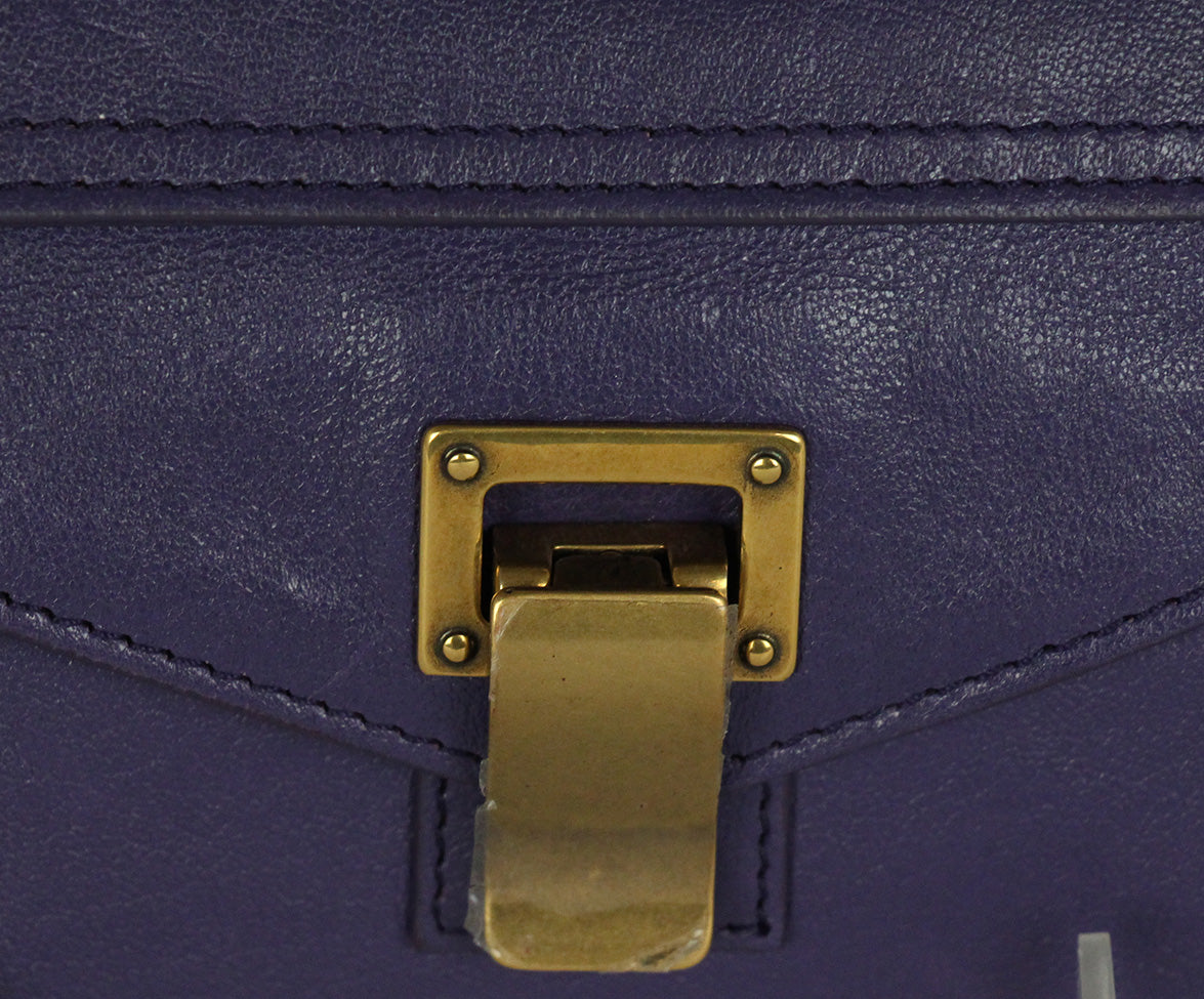 Proenza Schouler Purple Leather Clutch 9