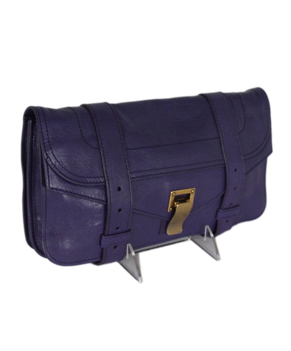 Proenza Schouler Purple Leather Clutch 2