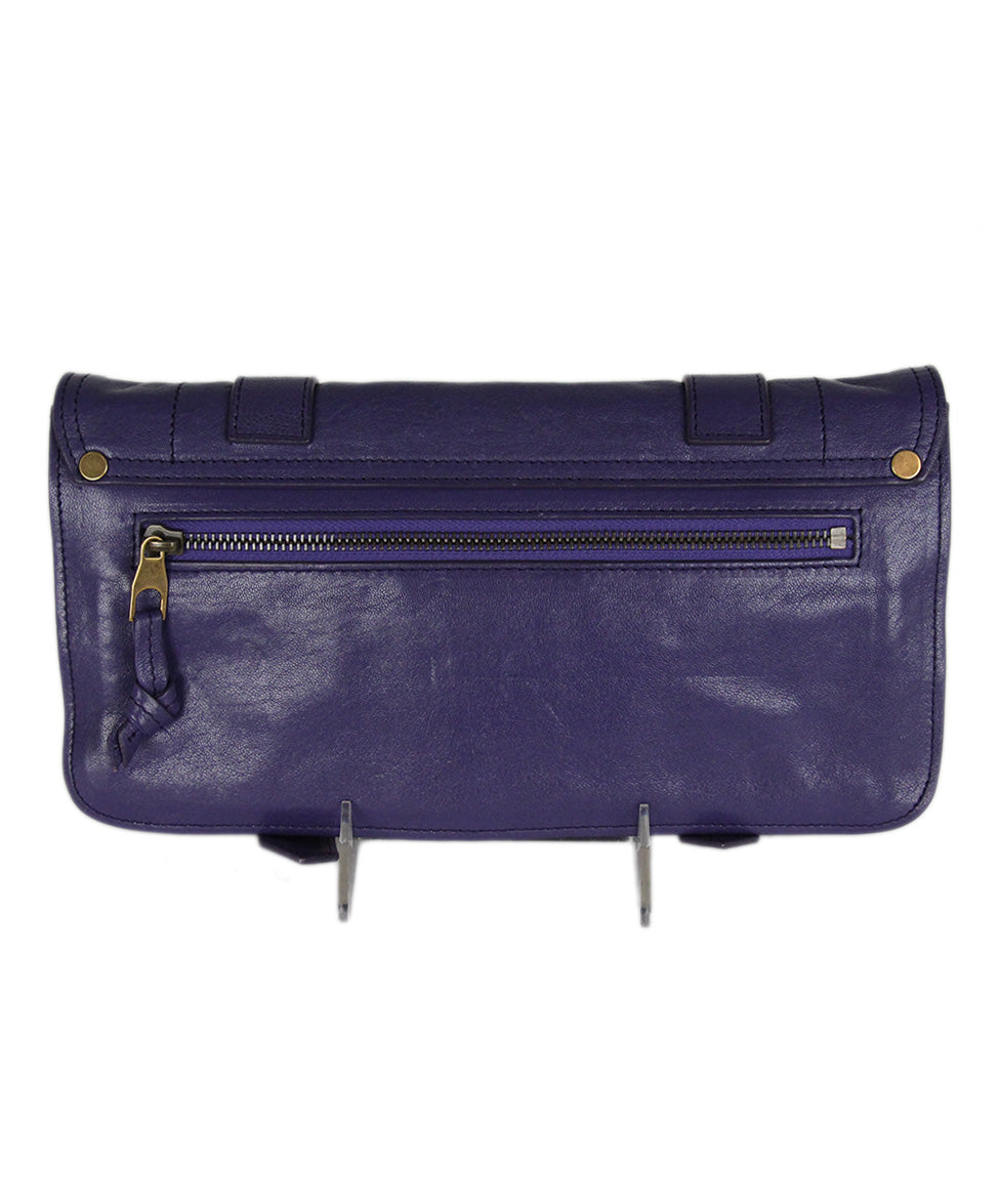 Proenza Schouler Purple Leather Clutch 3