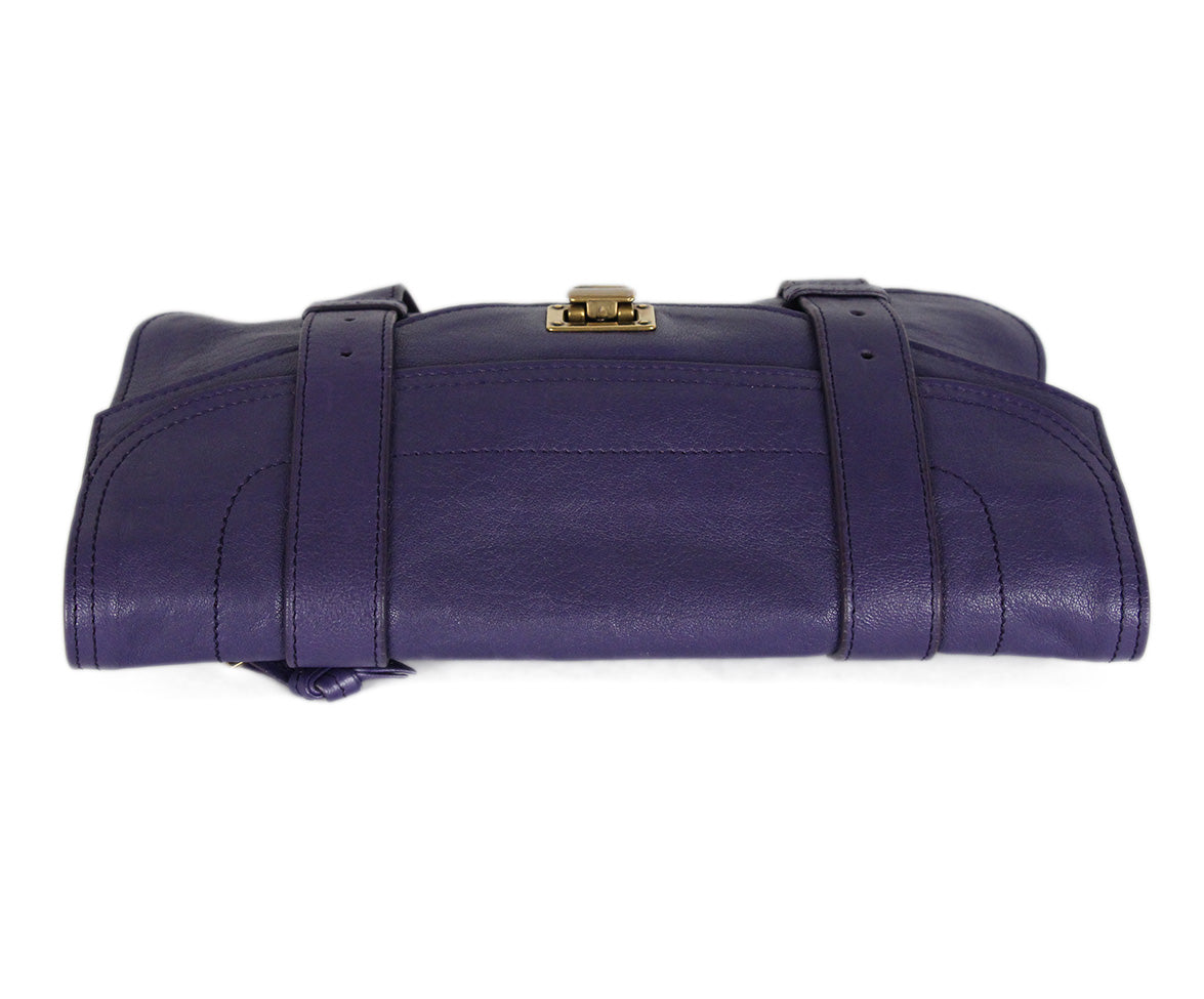 Proenza Schouler Purple Leather Clutch 5