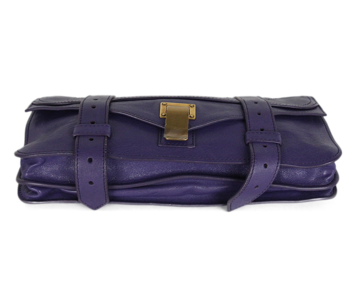 Proenza Schouler Purple Leather Clutch 4