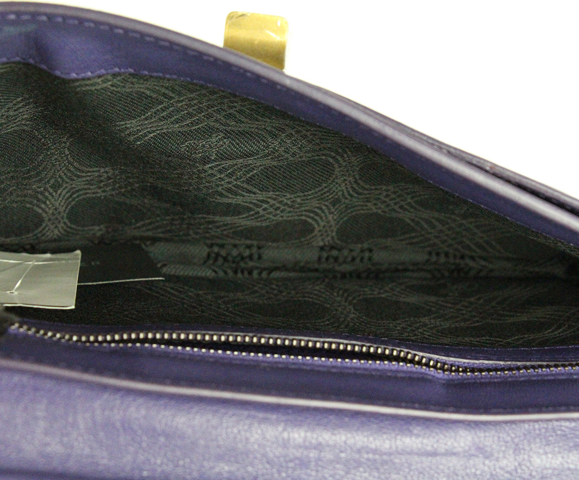 Proenza Schouler Purple Leather Clutch 6