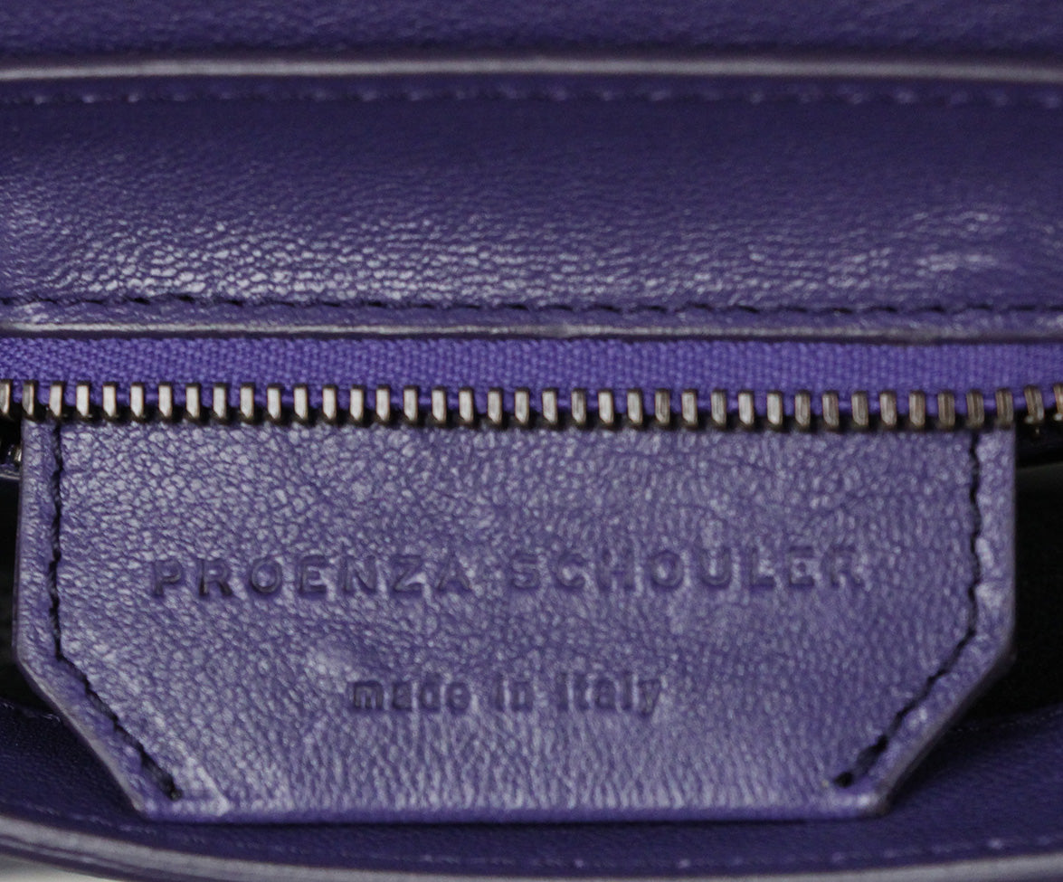 Proenza Schouler Purple Leather Clutch 7