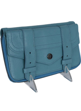 Proenza Schouler Blue Teal Leather Leather Wallet 2