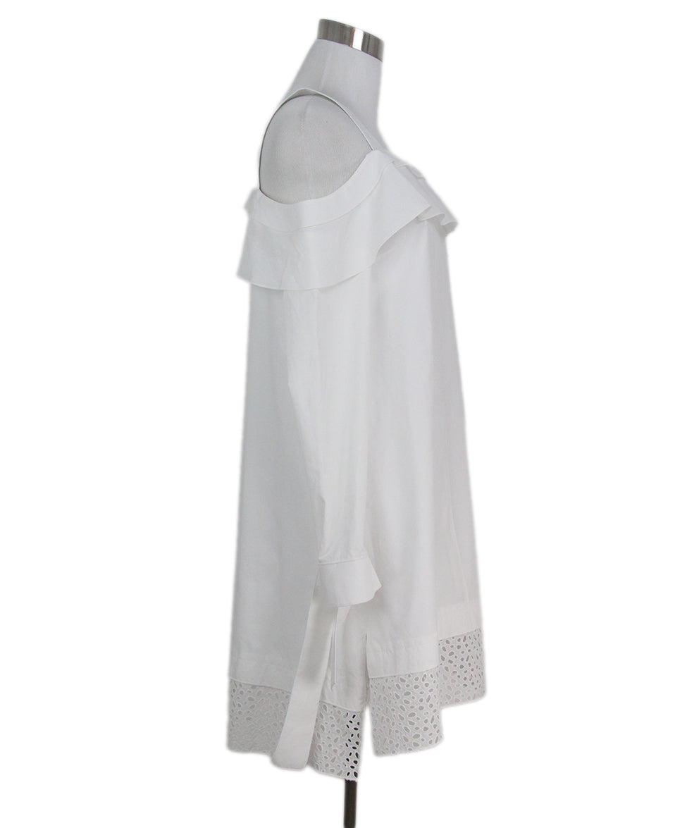 Proenza Schouler white cotton dress 2