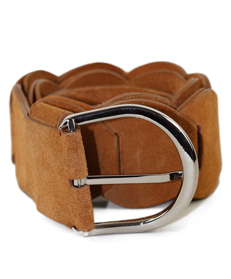 Emilio Pucci  Tobacco Leather Belt - Michael's Consignment NYC  - 1
