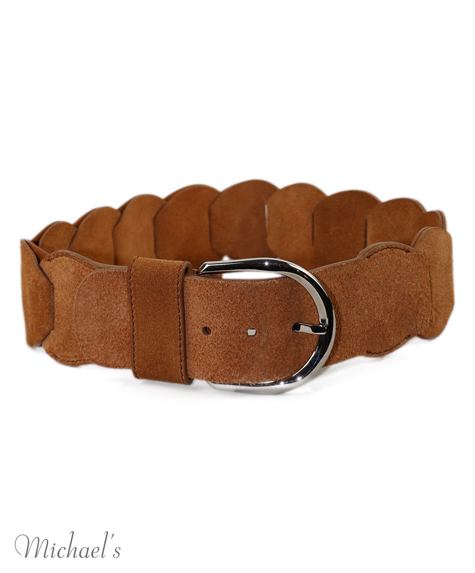 Emilio Pucci  Tobacco Leather Belt - Michael's Consignment NYC  - 2