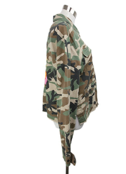 R+A Green Olive Black Camouflage Cotton Jacket 2