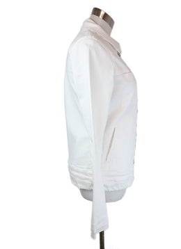 R+A White Denim Jacket Size 4