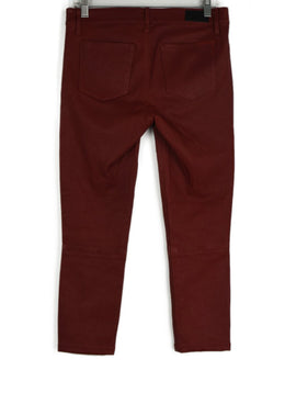R+A Red Leather Pants 2