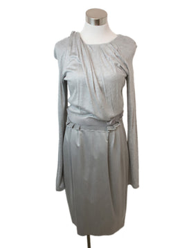 Rachel Roy Grey Viscose Wool Longsleeve Dress 1