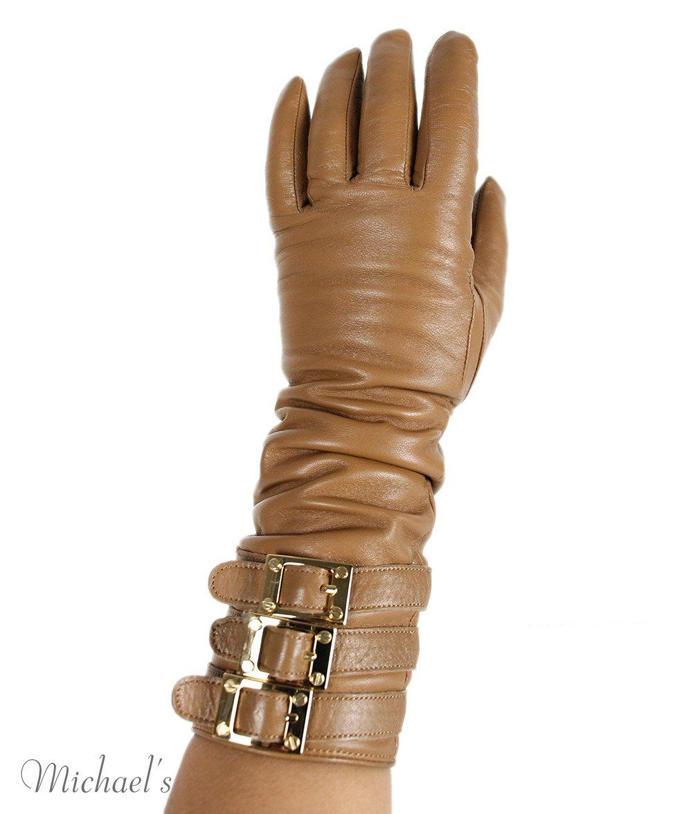 Rachel Zoe Tan Leather Gloves