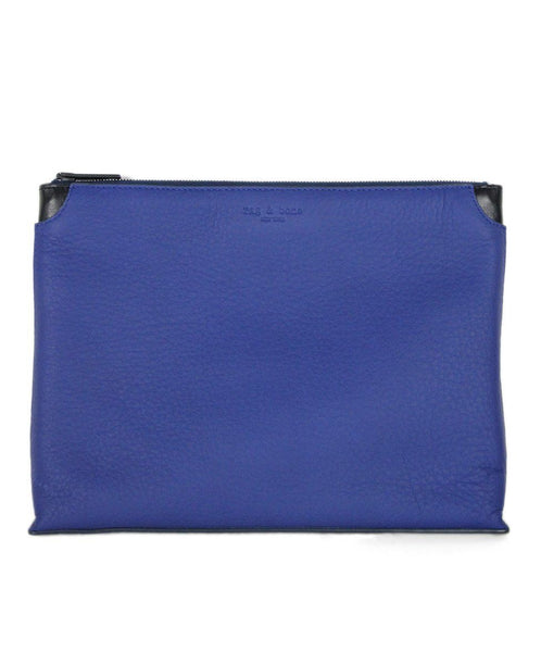 Rag & Bone Royal Blue Leather Cosmetic Case