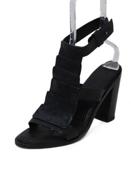Rag & Bone Black Leather Pump Sandals