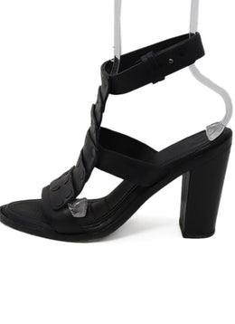 Rag & Bone Black Leather Pump Sandals 1
