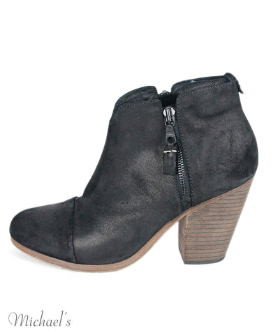 Rag & Bone Black Suede Booties Sz 38.5