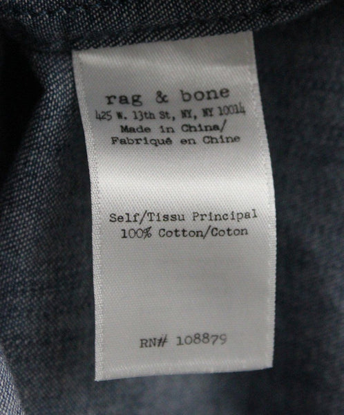 Rag & Bone Blue Denim Top sz 2